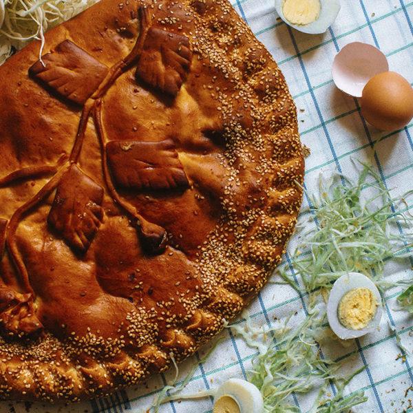 Пирог с капустой и яйцом2