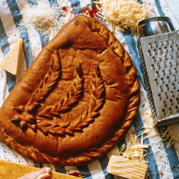 Пирог с курицей, рисом и сыром (3)