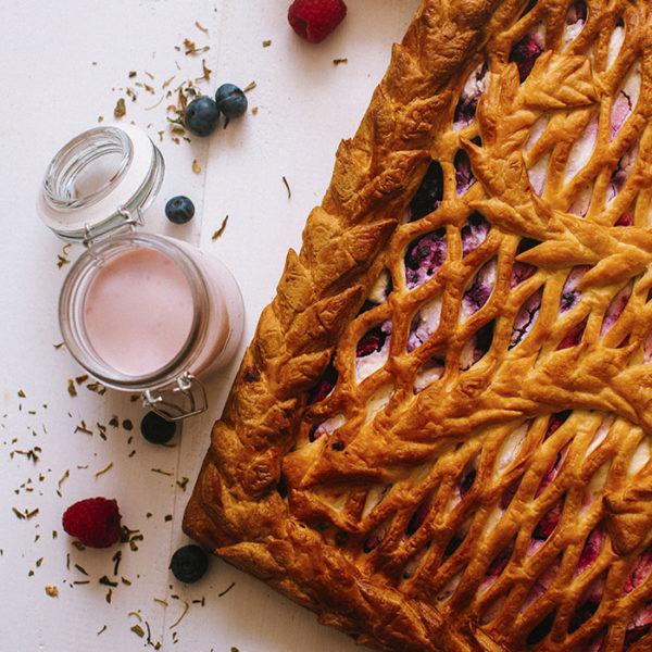 Пирог с лесными ягодами3