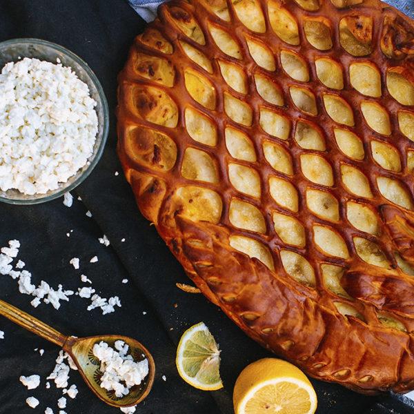 пирог лимонно-творожный